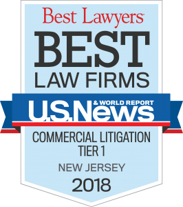 Best Lawyers Best Law Firms - Commercial Litigation Tier 1 - New Jersey - 2018