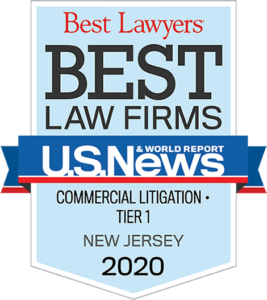 Best Lawyers Best Law Firms - Commercial Litigation - Tier 1 - New Jersey 2020 Badge