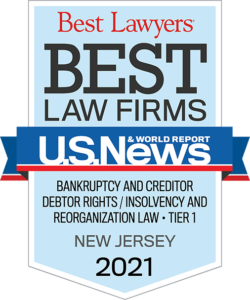 Best Lawyers Best Law Firms - Bankruptcy and Creditor Debtor Rights - Tier 1 - New Jersey 2021 Badge
